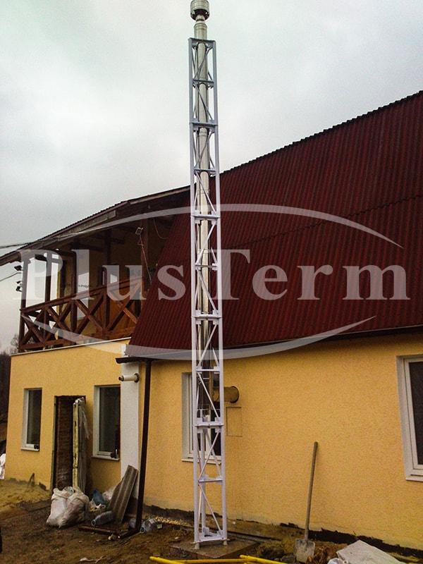 Монтаж системы дымоходов Plusterm Ø160/220мм, п.г.т. Буды