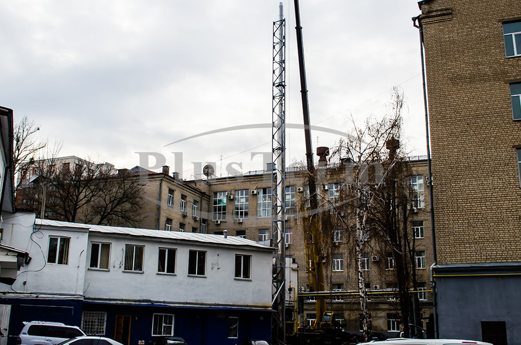 Монтаж системы дымоходов Plusterm Ø600/500мм, г. Харьков