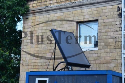Солнечный коллектор на крыше блочно-модульной котельной
